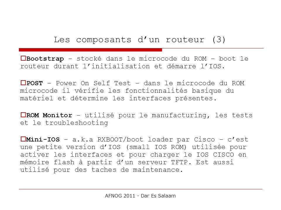 Les composants d'un routeur (3)