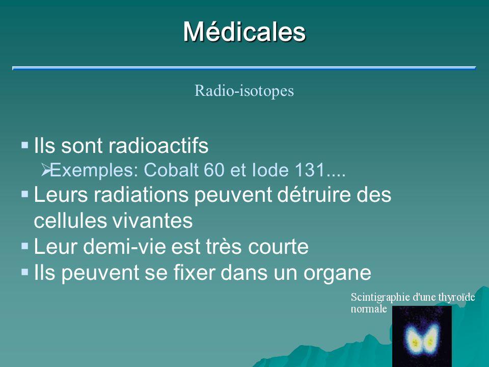 Médicales Ils sont radioactifs