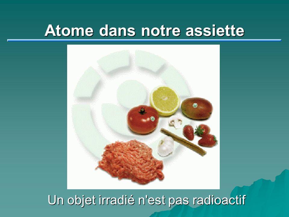 Atome dans notre assiette