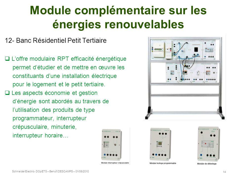 Module complémentaire sur les énergies renouvelables