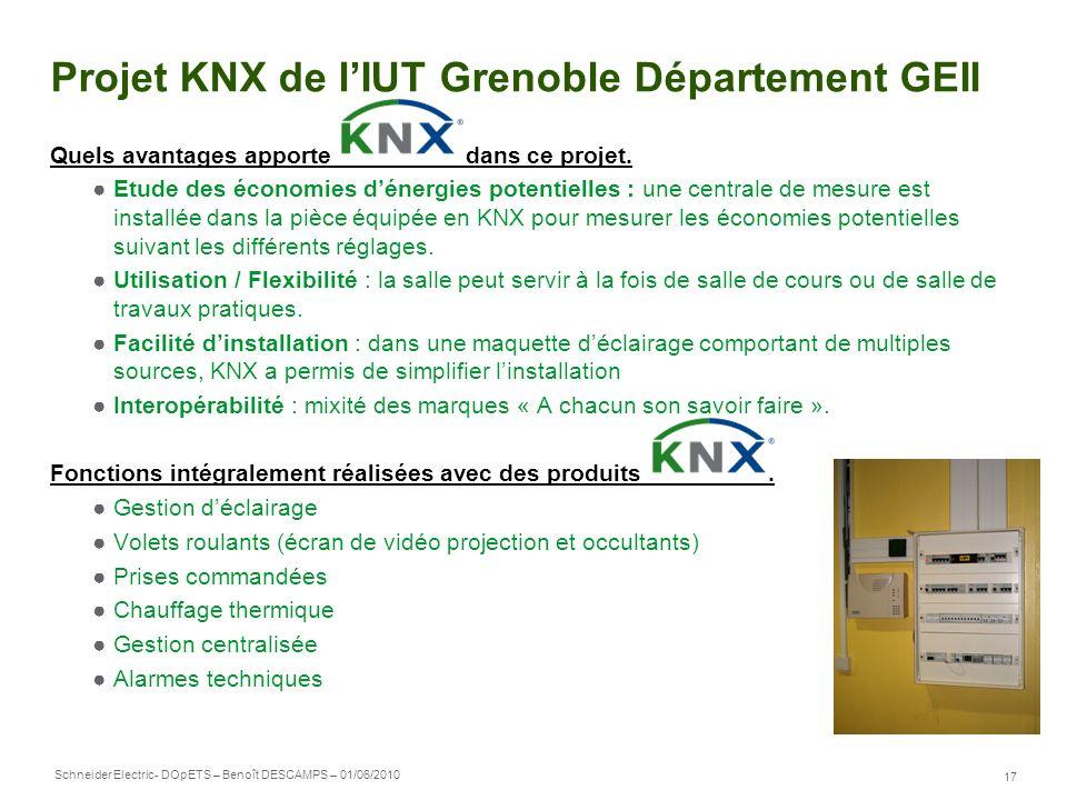 Projet KNX de l'IUT Grenoble Département GEII