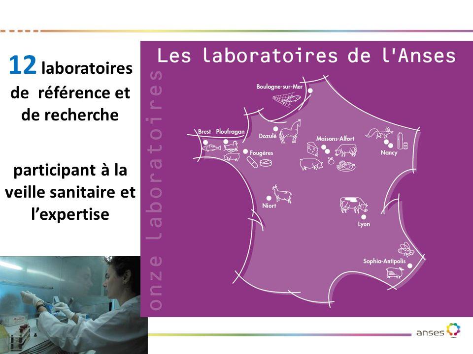 12 laboratoires de référence et de recherche