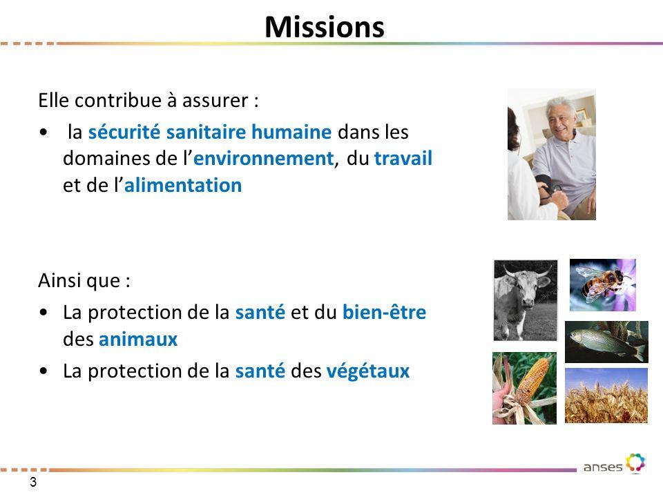Missions Elle contribue à assurer :