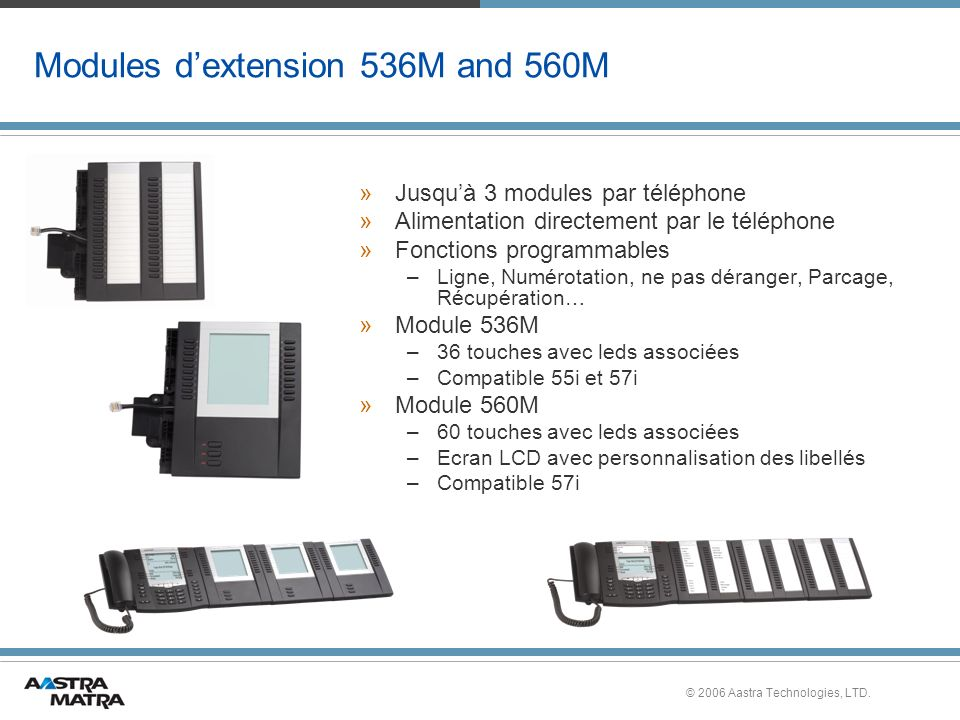 Modules d'extension 536M and 560M