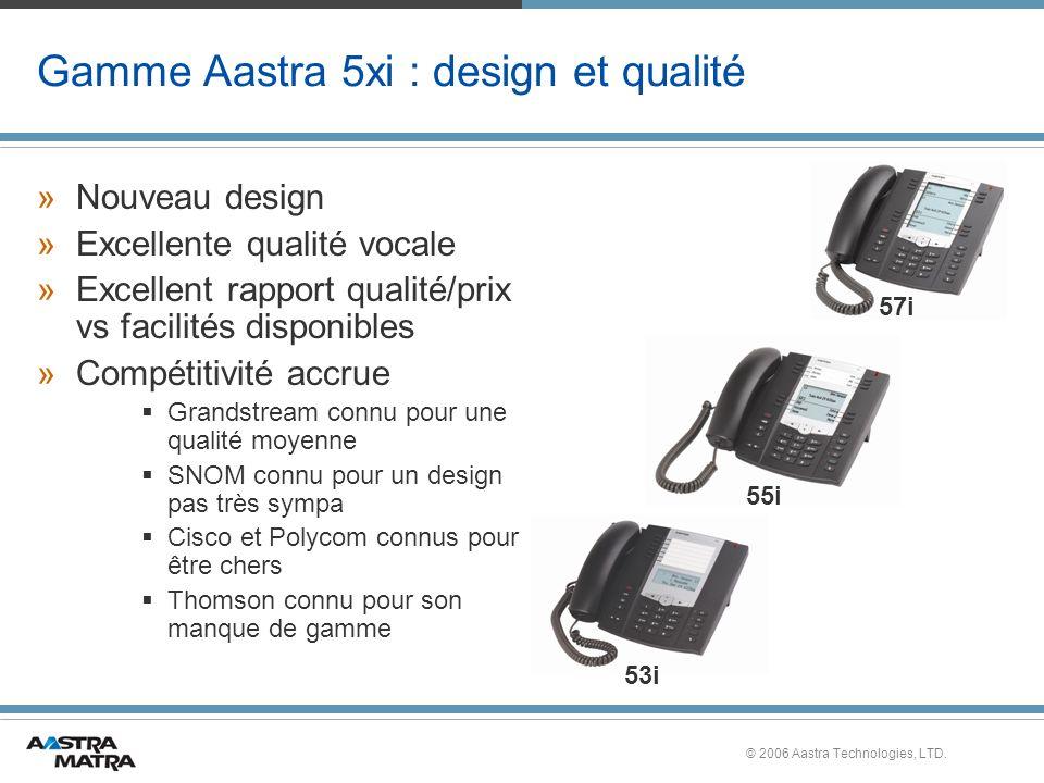 Gamme Aastra 5xi : design et qualité