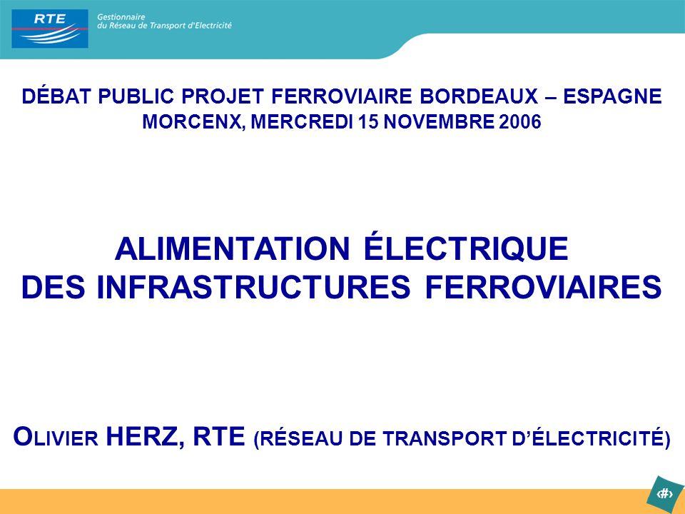 ALIMENTATION ÉLECTRIQUE DES INFRASTRUCTURES FERROVIAIRES
