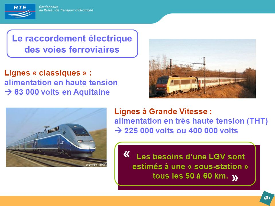 « » Le raccordement électrique des voies ferroviaires