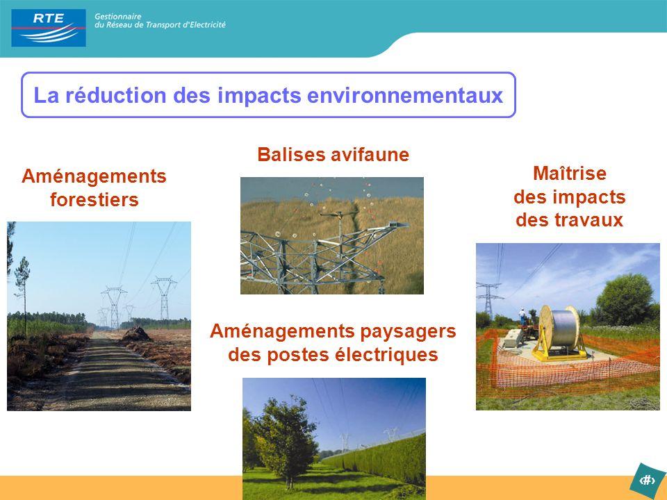 La réduction des impacts environnementaux
