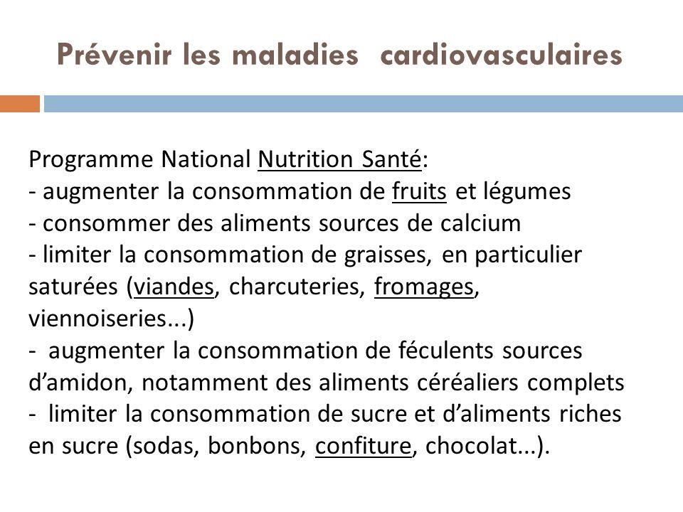 Prévenir les maladies cardiovasculaires