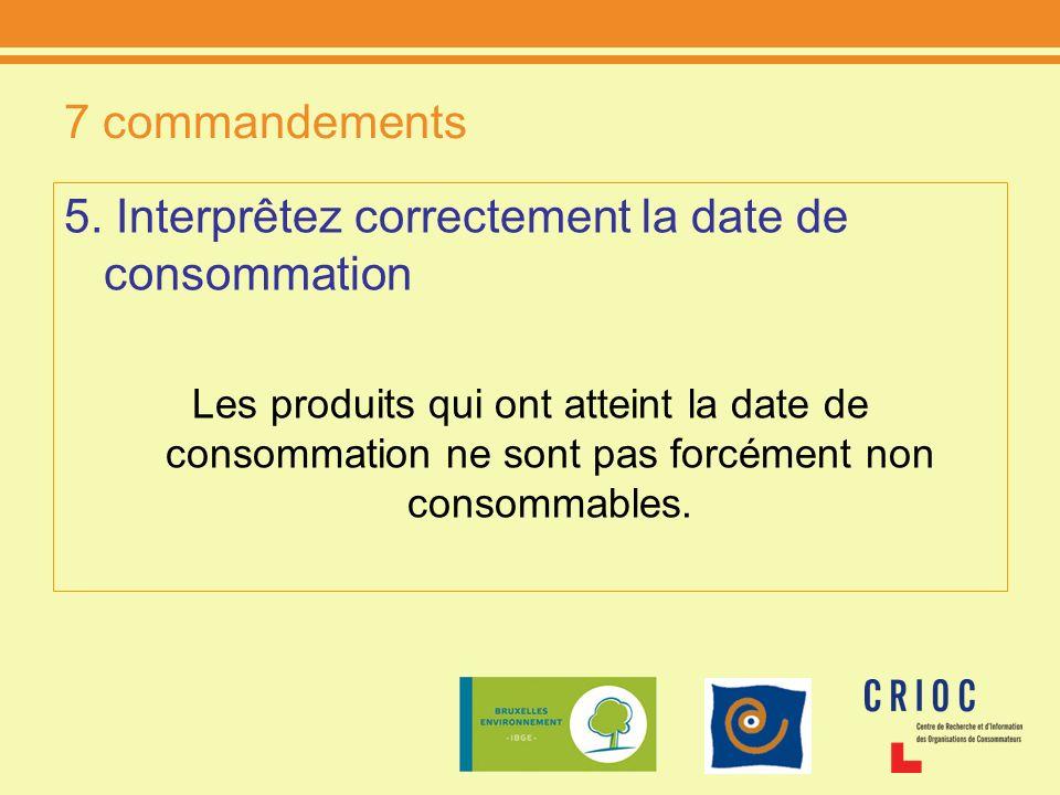 5. Interprêtez correctement la date de consommation