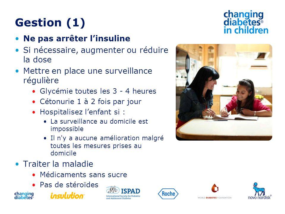 Gestion (1) Ne pas arrêter l'insuline