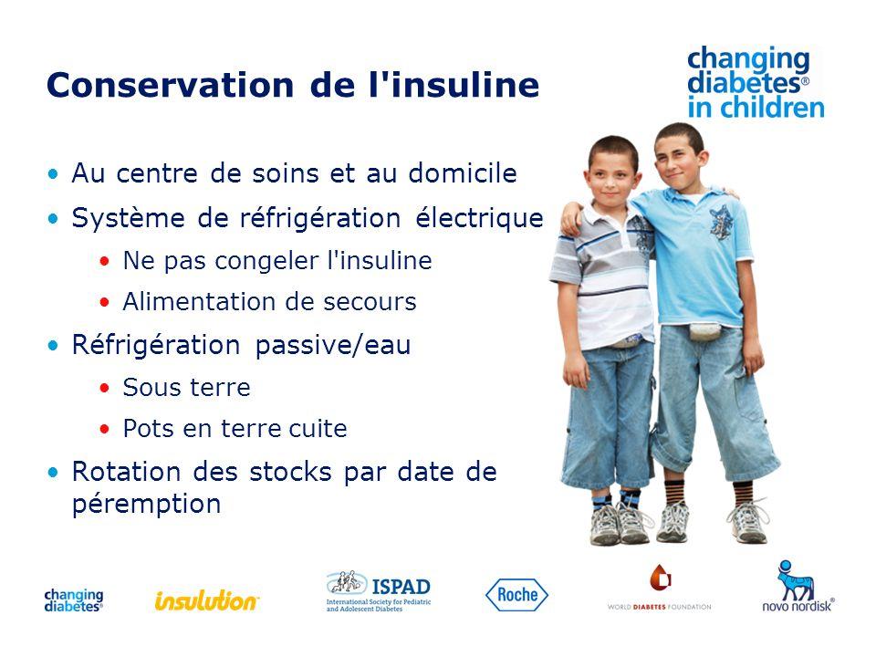 Conservation de l insuline