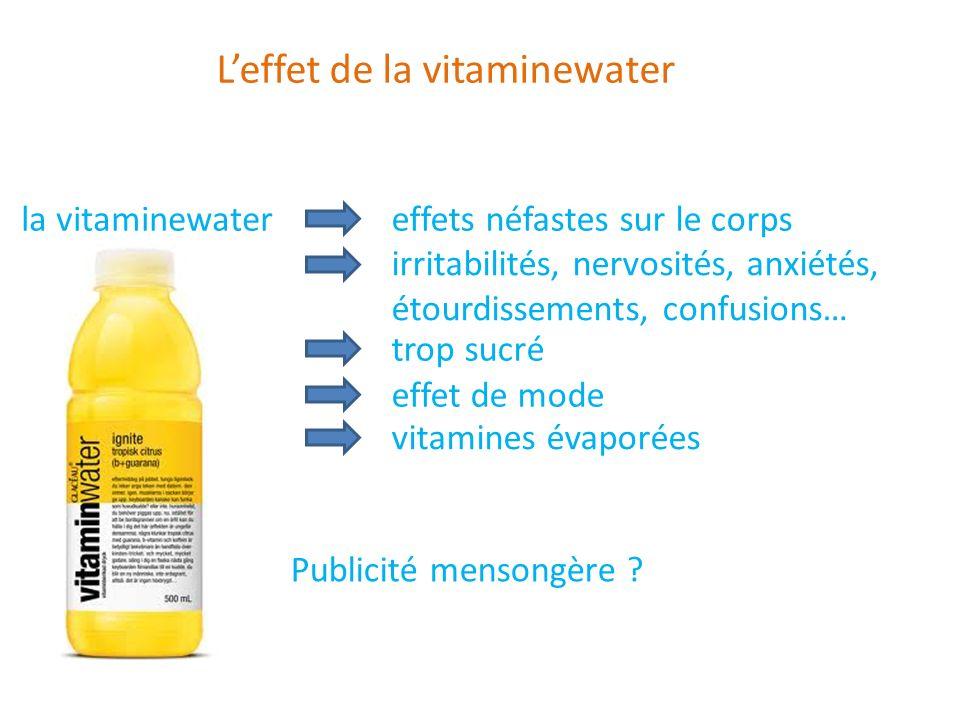 L'effet de la vitaminewater