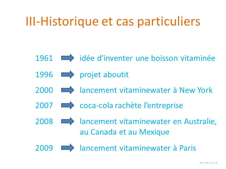 III-Historique et cas particuliers