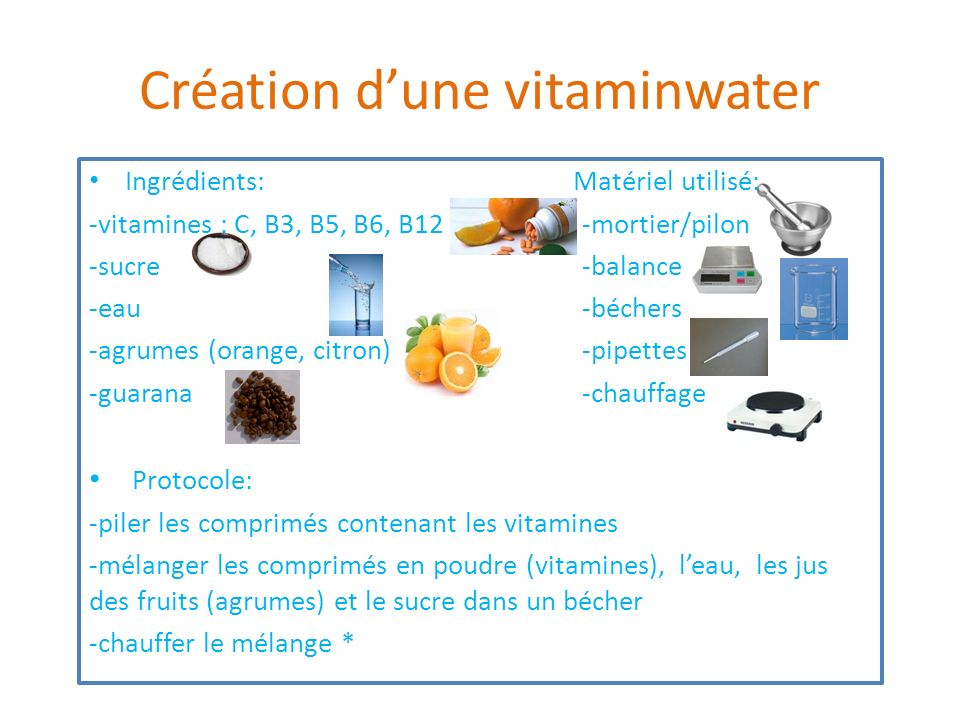 Création d'une vitaminwater