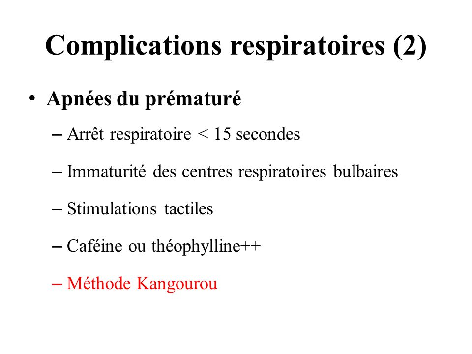 Complications respiratoires (2)