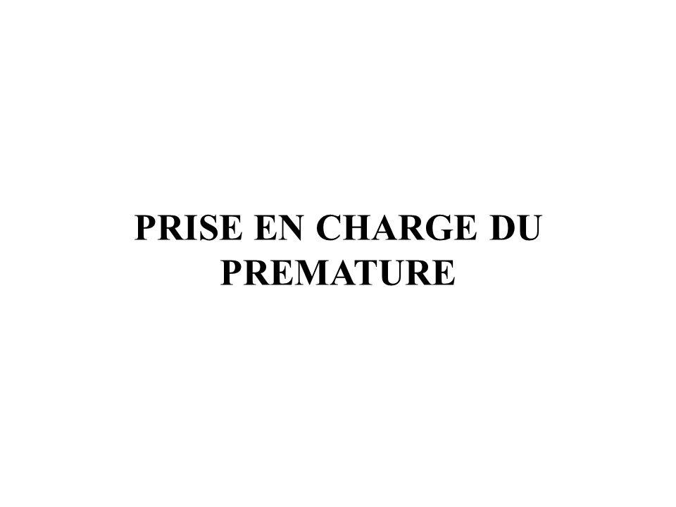 PRISE EN CHARGE DU PREMATURE