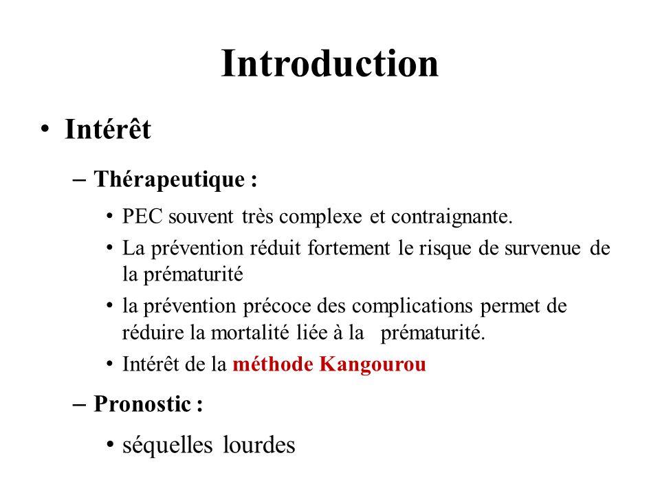 Introduction Intérêt séquelles lourdes Thérapeutique : Pronostic :