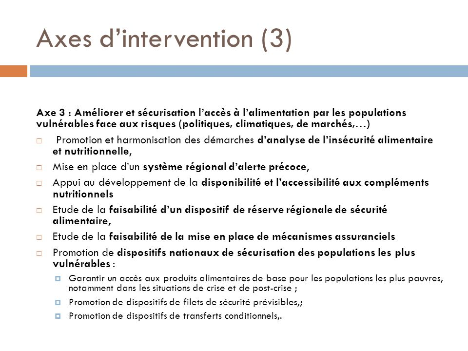 Axes d'intervention (3)