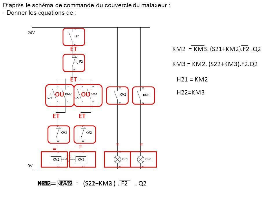 ET KM2 = KM3. (S21+KM2).F2 .Q2 KM3 = KM2. (S22+KM3).F2.Q2 ET H21 = KM2