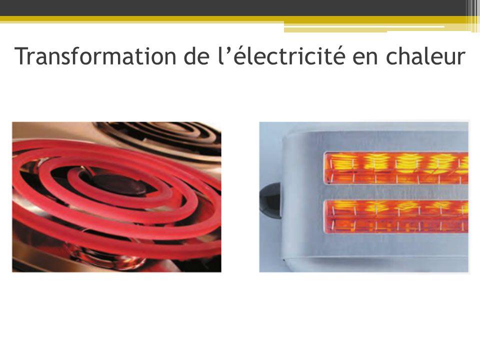 Transformation de l'électricité en chaleur
