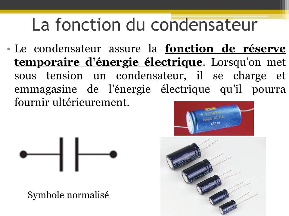 La fonction du condensateur