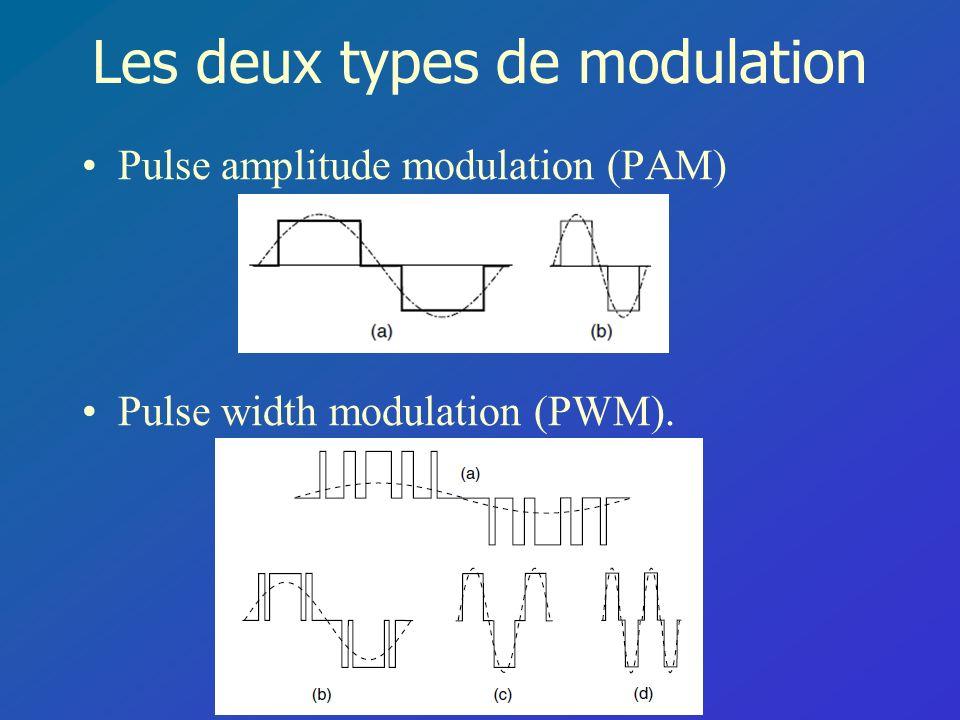 Les deux types de modulation