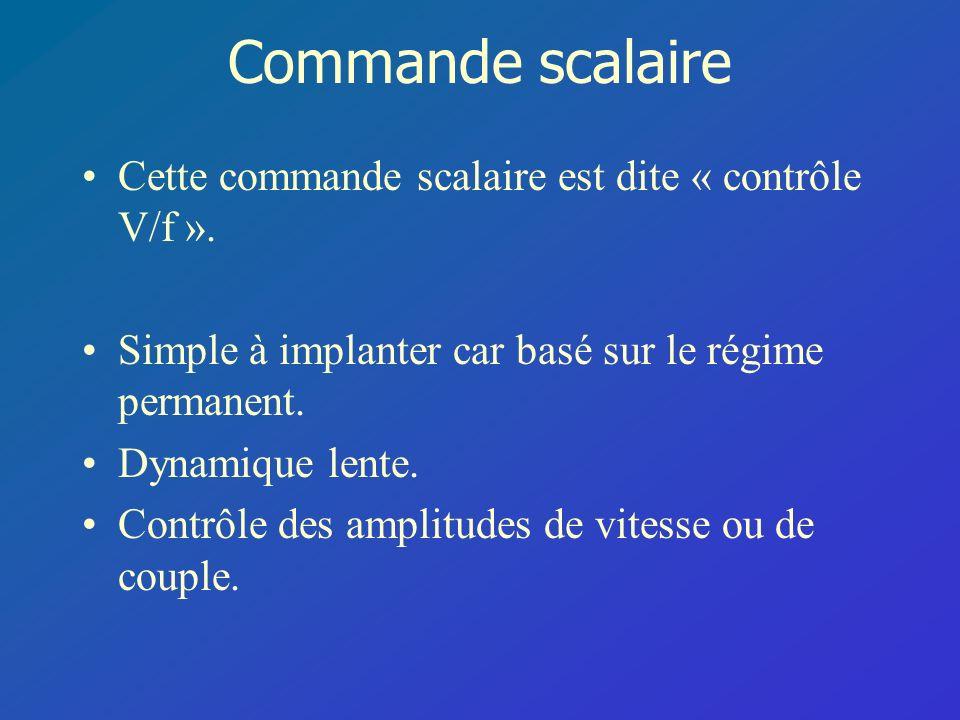Commande scalaire Cette commande scalaire est dite « contrôle V/f ».