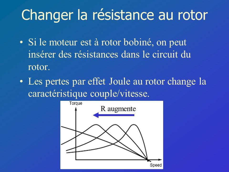 Changer la résistance au rotor