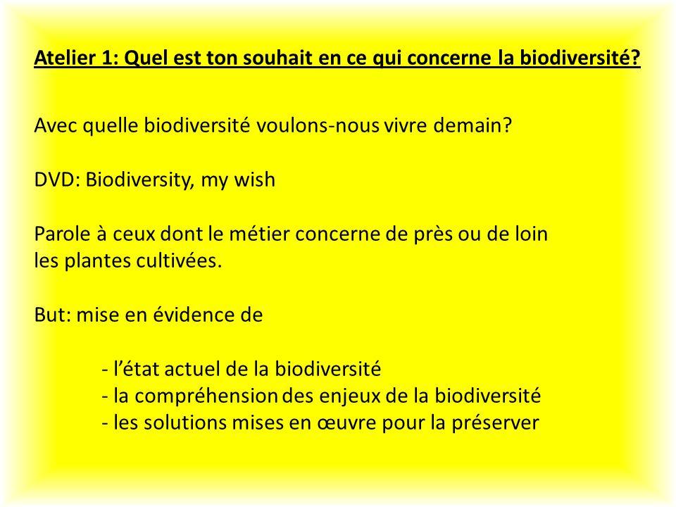 Atelier 1: Quel est ton souhait en ce qui concerne la biodiversité