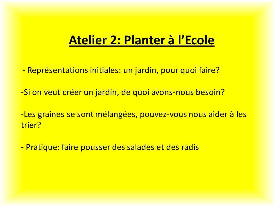 Atelier 2: Planter à l'Ecole