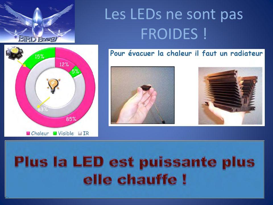 Les LEDs ne sont pas FROIDES !