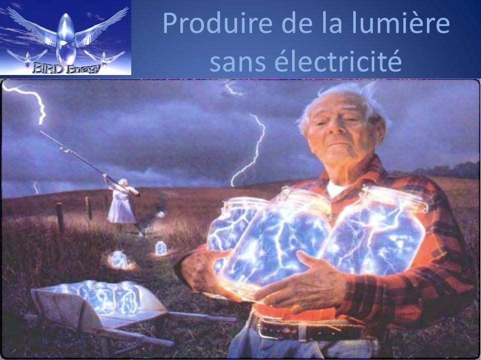 Produire de la lumière sans électricité