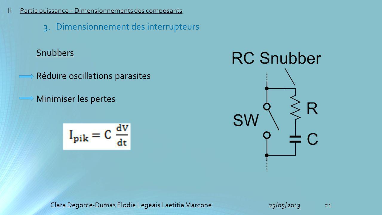 3. Dimensionnement des interrupteurs