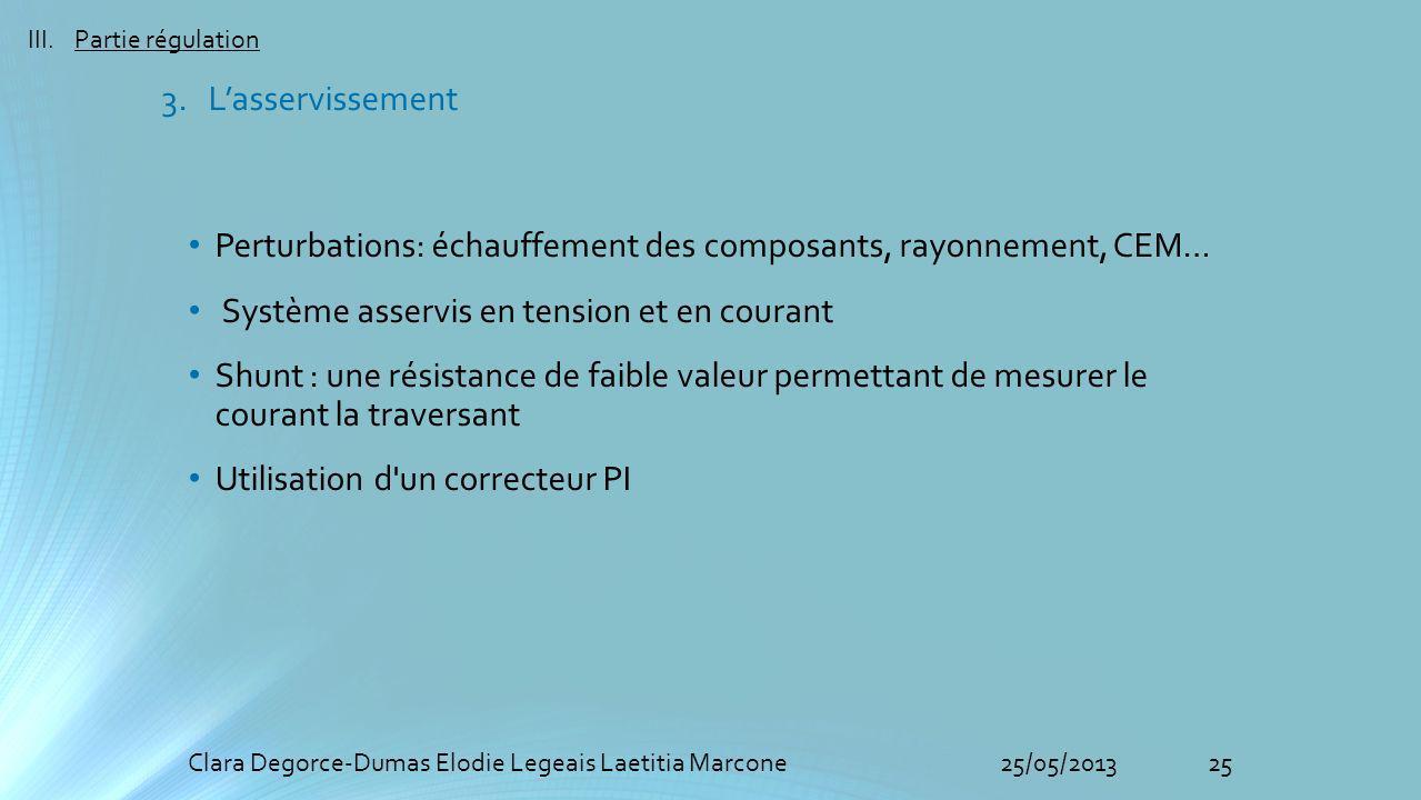 Perturbations: échauffement des composants, rayonnement, CEM…