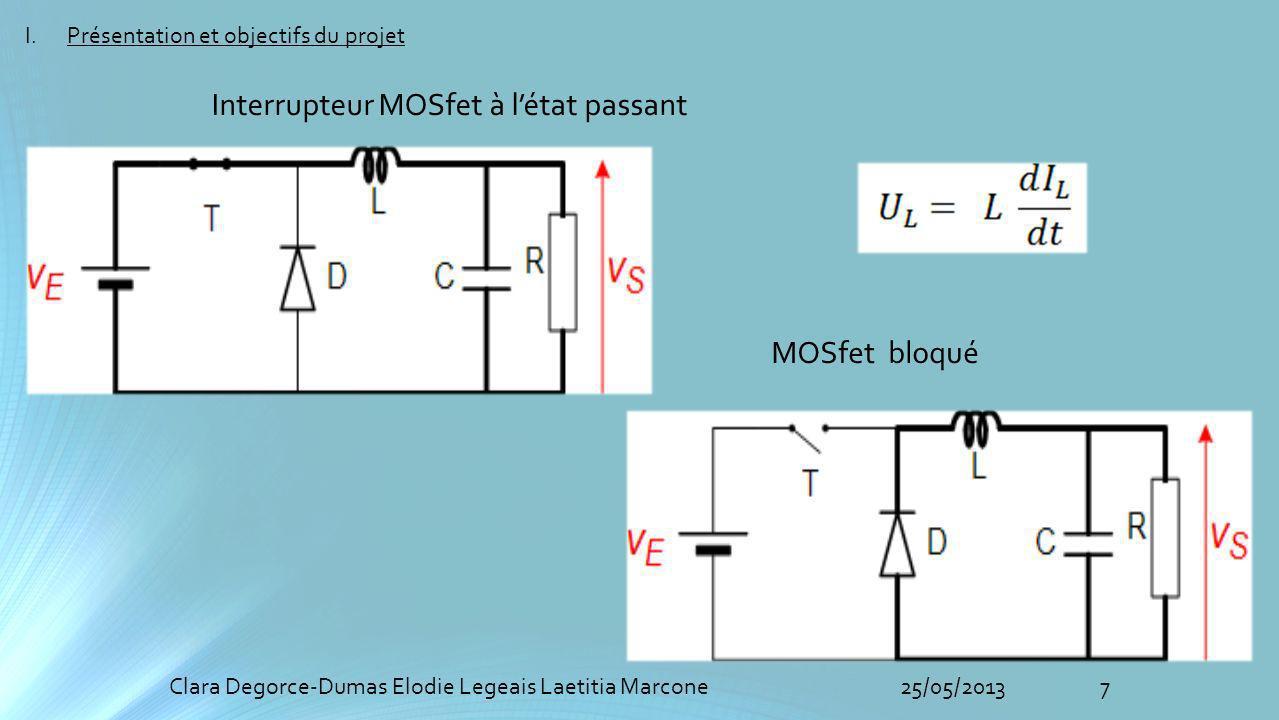 Interrupteur MOSfet à l'état passant