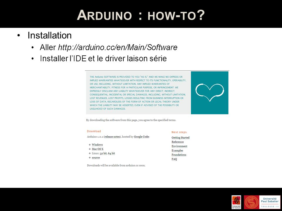 Arduino : how-to Installation