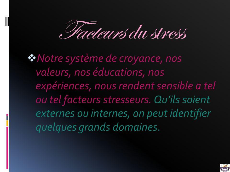 Facteurs du stress