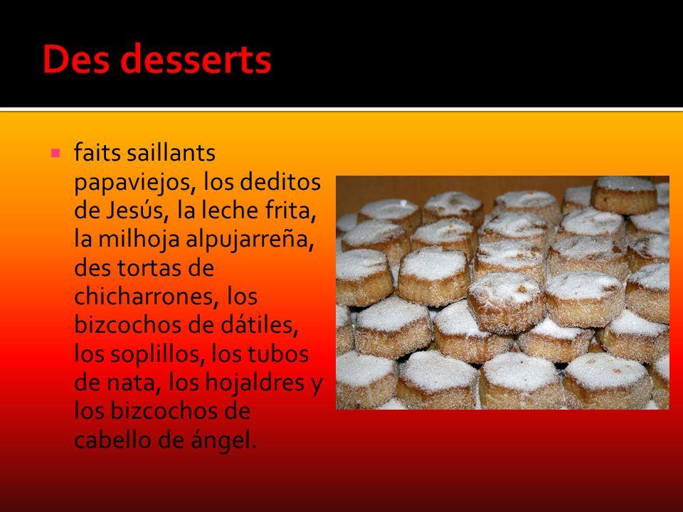 Des desserts