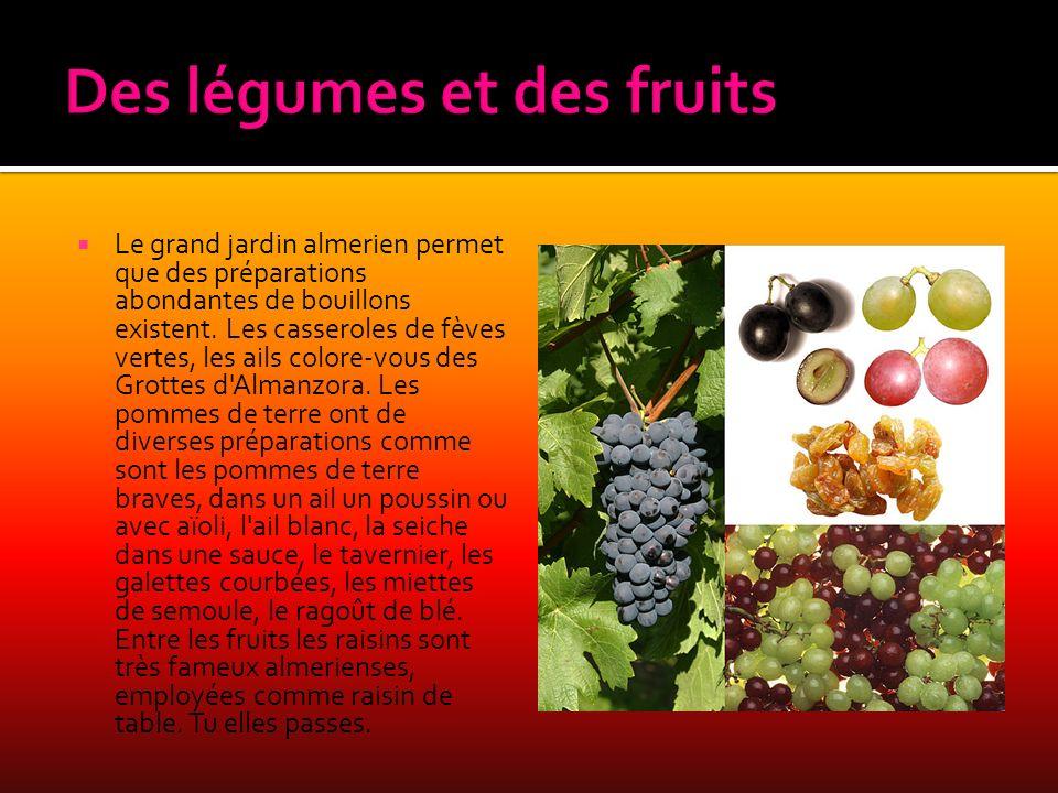 Des légumes et des fruits