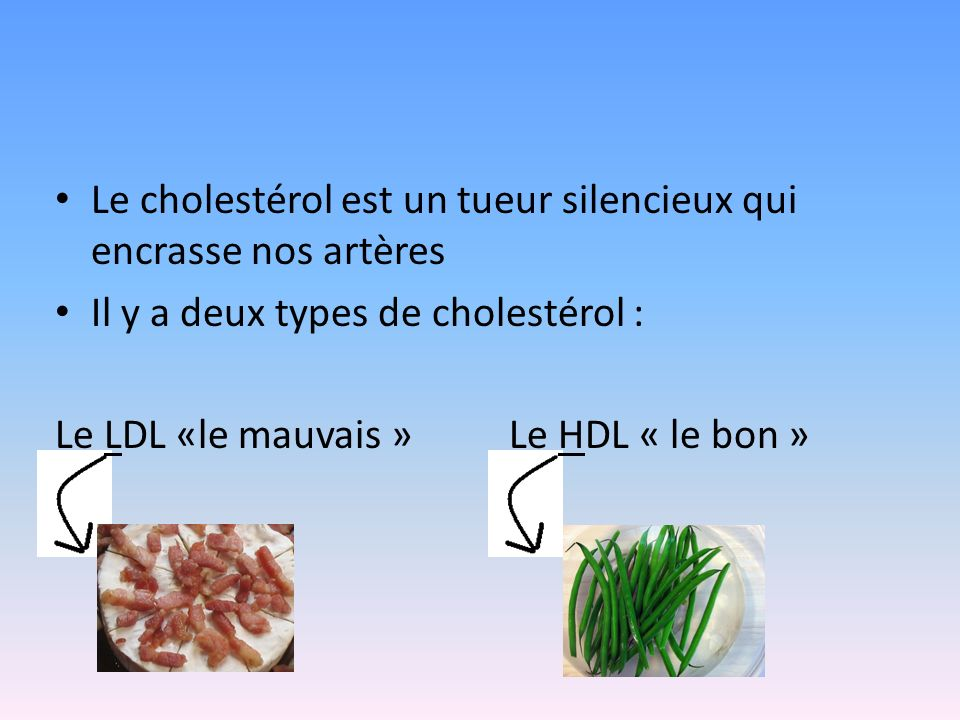 Le cholestérol est un tueur silencieux qui encrasse nos artères