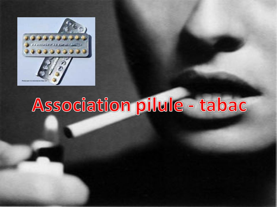 Association pilule - tabac