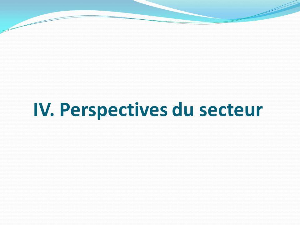 IV. Perspectives du secteur