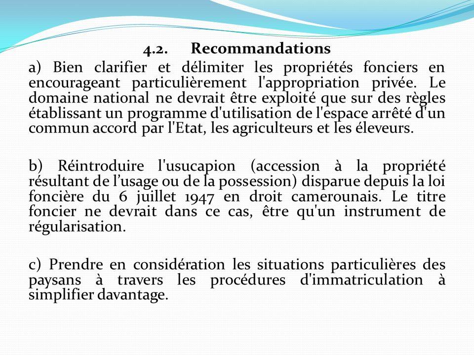 4.2. Recommandations