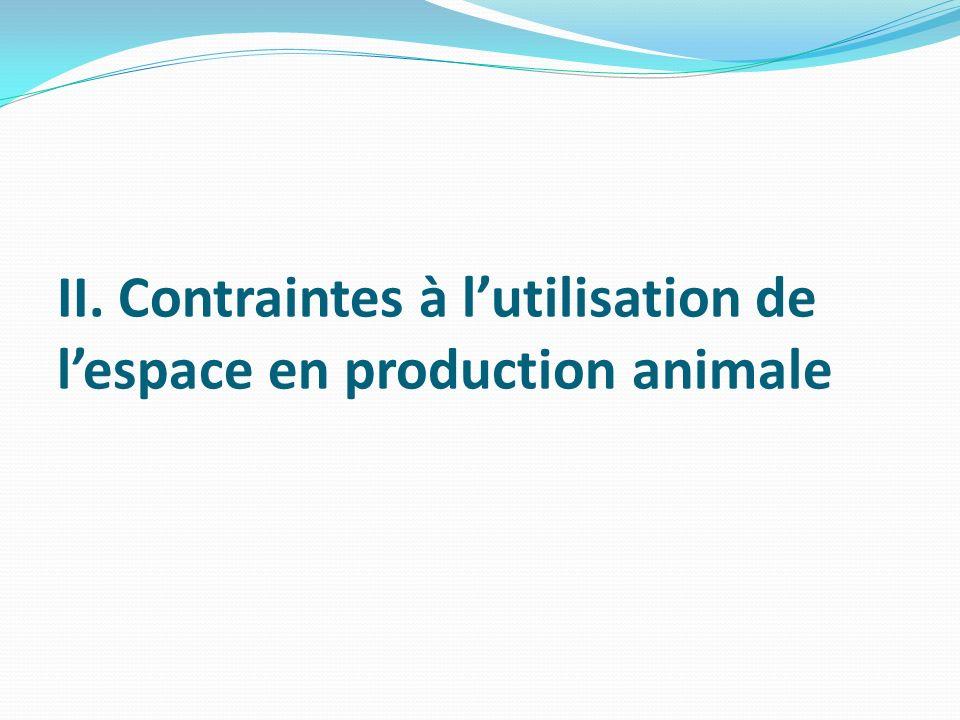 II. Contraintes à l'utilisation de l'espace en production animale