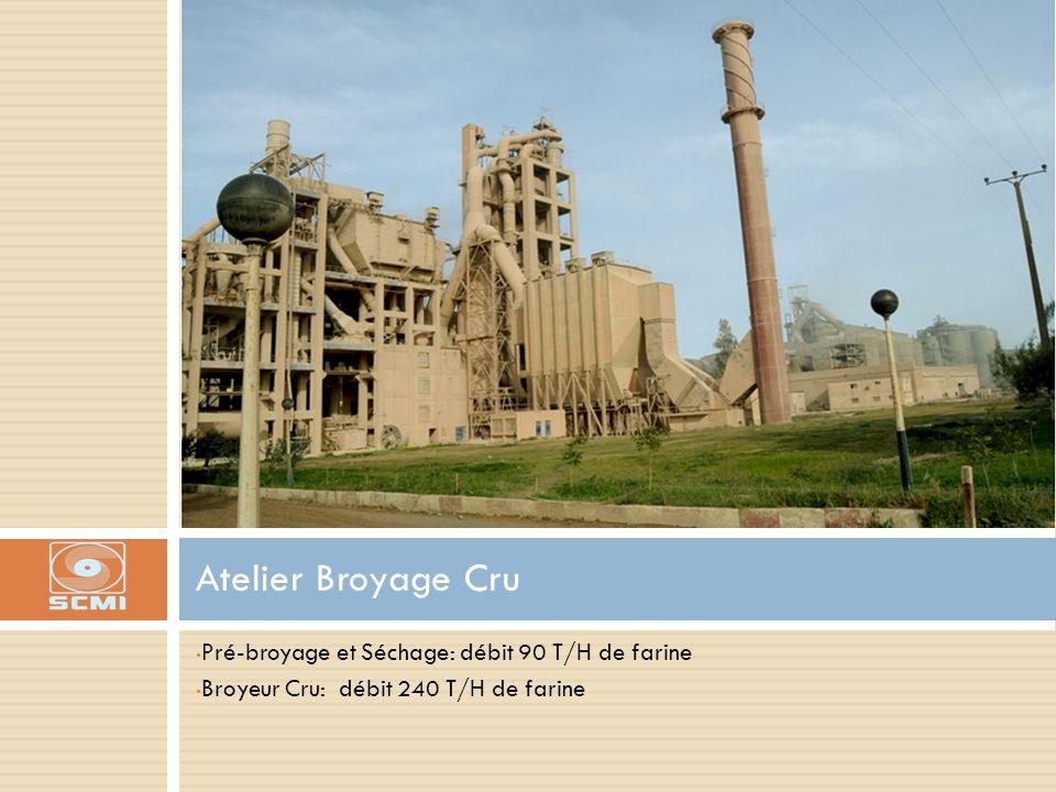 Atelier Broyage Cru Pré-broyage et Séchage: débit 90 T/H de farine