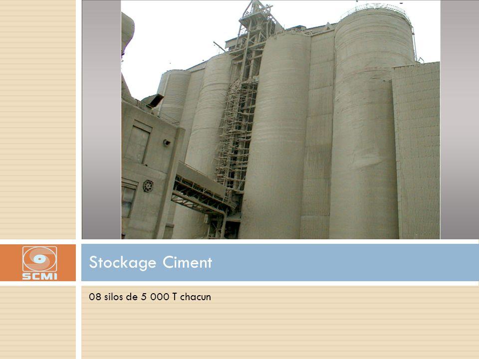 Stockage Ciment 08 silos de 5 000 T chacun