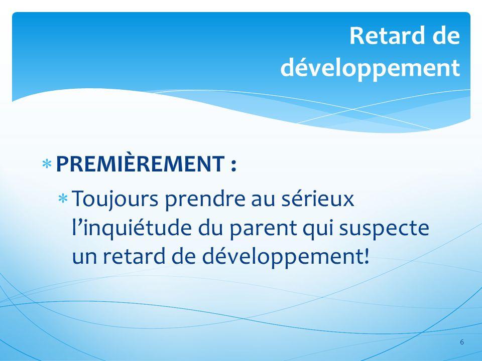 Retard de développement