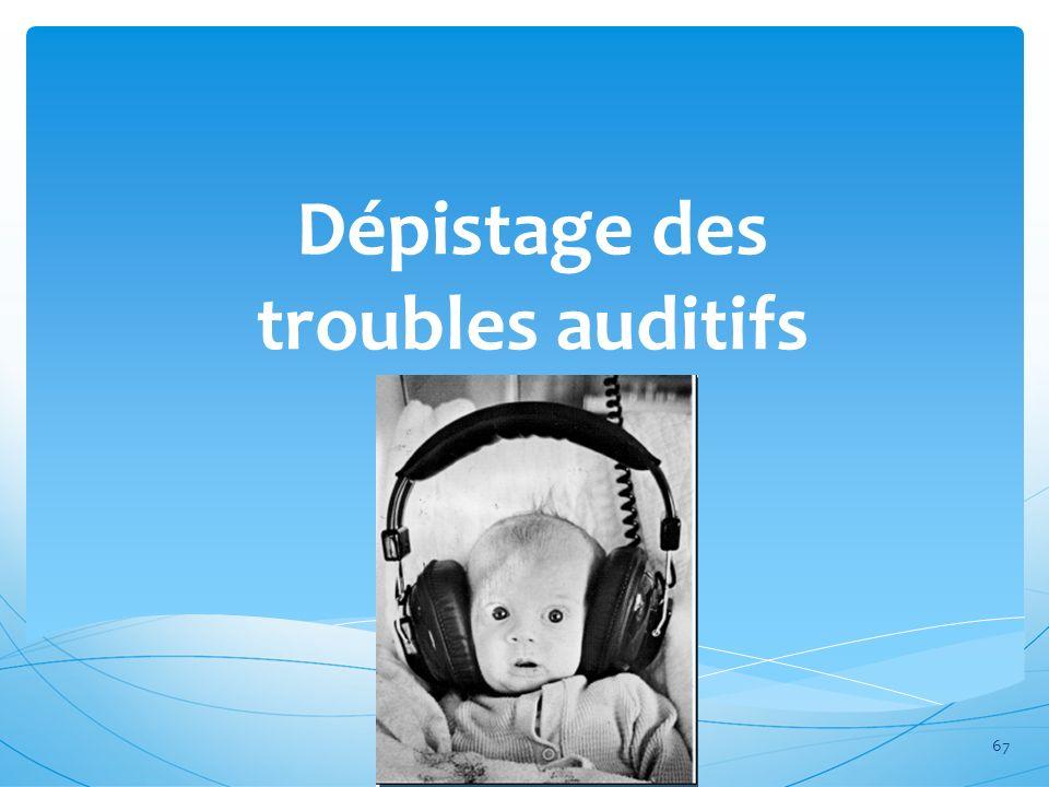 Dépistage des troubles auditifs