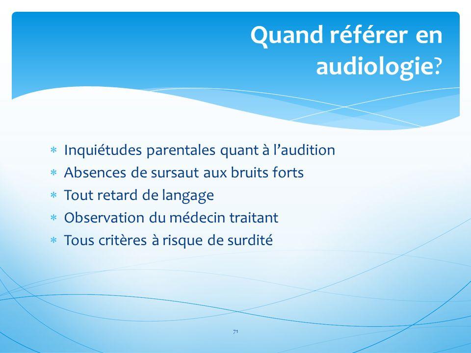 Quand référer en audiologie